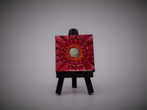 """Title: Petite Dahlia Size: 2.75'' x 2.75"""" (7 cm x 7 cm)"""