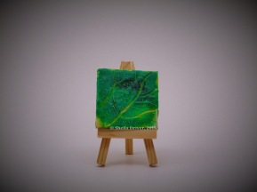 """Title: Little Leaf Size: 2.75'' x 2.75"""" (7 cm x 7 cm)"""