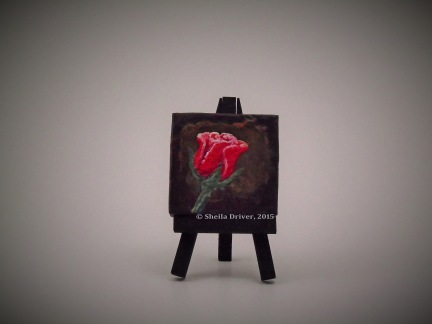 """Title: Petite Rose Size: 2.75'' x 2.75"""" (7 cm x 7 cm)"""